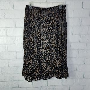 Chico's Leopard Print Lined Skirt